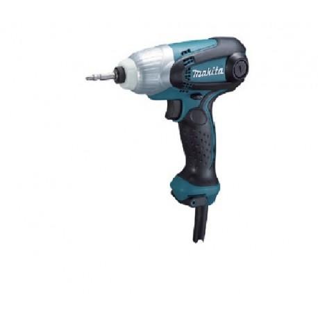 "Atornillador de Impacto 1/4"" Hex 230 W 0-3,600 rpm (max Torque 100 Nm) tipo T Makita TD0101"