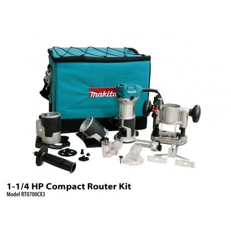 Makita Recortadora RT0700C c/base recortadora Cod RT0700CX3
