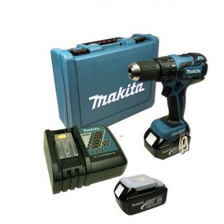 Makita Taladro-Atornillador C/Percusión 13 mm. - 2 vel. variable (max. Torque 45 N.m) 1,5 kg. Cod BHP459RFE