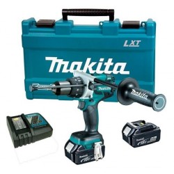 Taladro-Atornillador C/Percusión 13 mm- vel variable (max Torque 115 Nm) 2100 rpm 2,7 kg Makita DHP481RTE