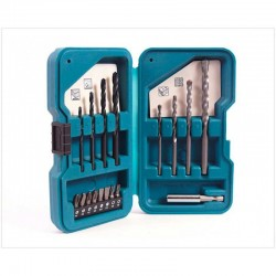 Set de Accesorios Multiproposito puntas y brocas 17 Piezas Makita D-40216