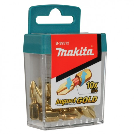 Set Impact - Gold Torsion 10 piezas Makita B-39512-10