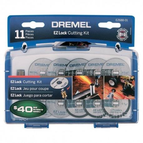 Kit 11 acc de corte ez lock Dremel EZ688
