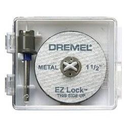 Kit mandril/disco metal ez lock Dremel EZ406
