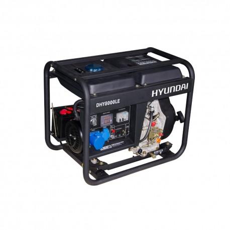 Generador Diesel 6/6,5 Kw/Kva Partida eléctrica monofásico Abierto HYUNDAI 78DHY8000LE