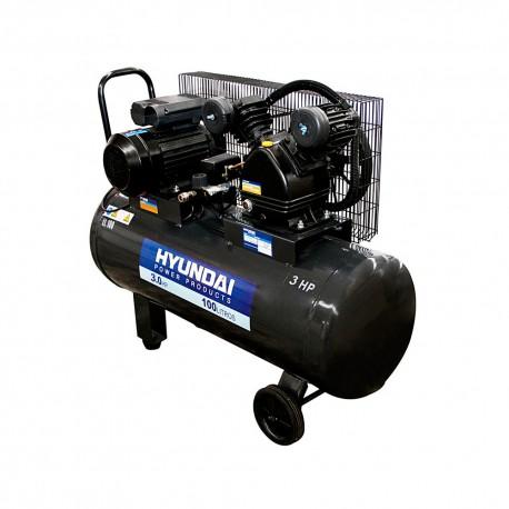 Compresor Monofásico 3HP 100L 115psi Correa HYUNDAI 78HYAC100