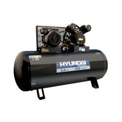 Compresor Monofásico 2HP 200L 115psi Correa HYUNDAI 78HYAC200C