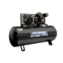 Compresor Monofásico 3HP 300L 115psi Correa HYUNDAI 78HYAC300C
