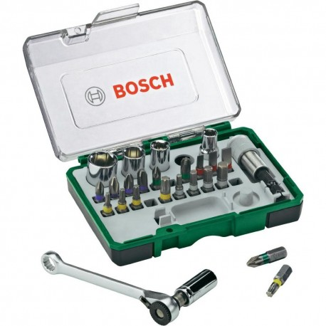 Set PROMOLINE x 27 Piezas MINI RATCHET Bosch 2607017160