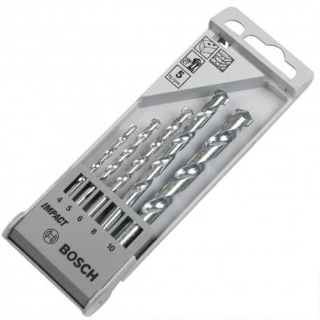 Set broca concreto 4, 5, 6, 8, 10 - 5 piezas Bosch 2608590090