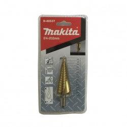 Broca de Paso Espiral Recubrimiento de Titanium 4-32 Makita D-40537