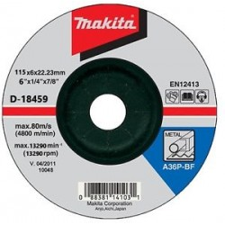 "Disco Debaste Metal 4-1/2""(115x6x2223 mm) Makita D-18459"