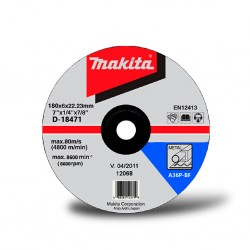 "Disco Debaste Metal 7""(180x6x2223mm)CD/A24R-BF Makita D-18471"