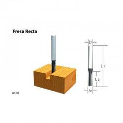 """Fresa Recta 1 Filo 1/4""""x 1"""" Eje 1/4"""" Makita D-01286"""