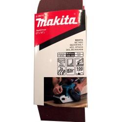"Lija de Banda 3x18""3 Piezas G100 Madera-Metal Makita D-59215"