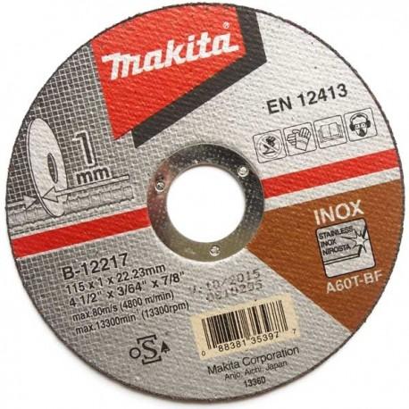 """Makita Disco Abrasivo 4-1/2"""" Corte Acero Inoxidable Cod B-12217"""