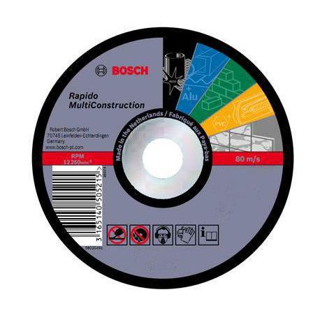 """Bosch Disco de corte rápido 7"""" 1.6 mm Multiconstruction Cod 2608602766"""