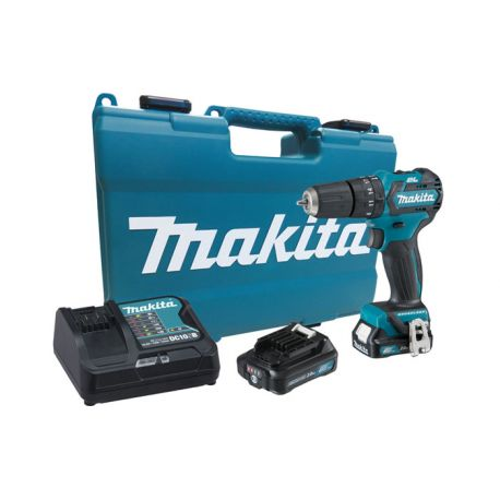 Makita Taladro Percutor 12V 2.0Ah BL Motor (2 baterías + cagador) Cod HP332DWAE