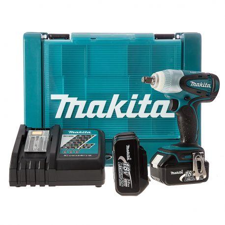 Makita Llave de Impacto 0-2,100 rpm (Max. Torque 230 N.m) 1,5 kg./ 2 Bat. Li-ion 3,0Ah + Cargador. Cod DTW251RFE3