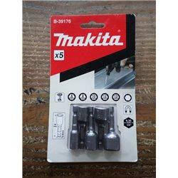 Makita Adaptador Magnético 5 pcs (6,8,10,12,13) x50 (MZ) Cod B-39176 B-39176