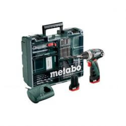 Taladro Percutor Inalámbrico + 2 baterias de litio 10.8 Volt 2.0 Ah. 10MM Metabo POWER MAXX