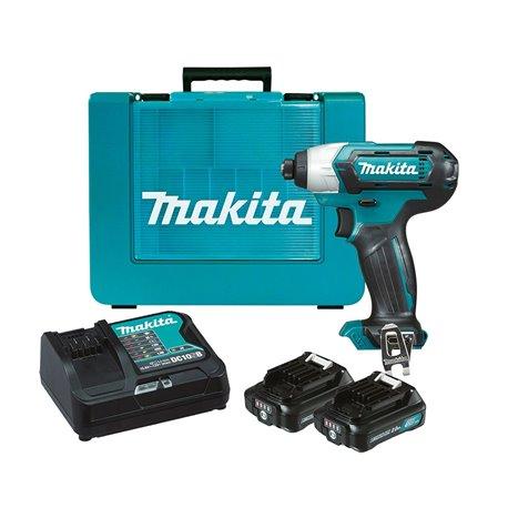 Atornillador de Impacto 12V 2.0Ah (2 baterías + cargador) Makita TD110DSAE
