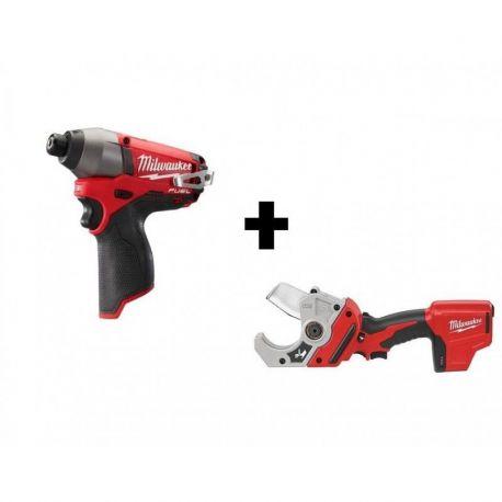 Combo Atornillador de Impacto + cortadora de tubos Milwaukee 2453-259 + 2470-059
