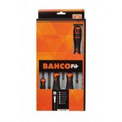 Juego de Destornilladores para tornillos Phillips® y ranurados 6 piezas Bahco B219.006