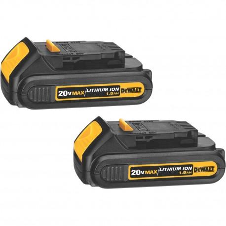 Batería Ion de Litio 20 V 1,5 Ah DeWalt DCB201-B3