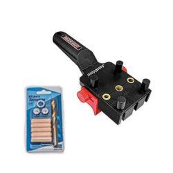 """Kit Carpintería Guía para tarugos y Kit de brocas y tarugos 3/8"""". Milescraft Kit 7"""