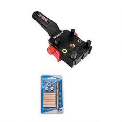 """Kit Carpintería Guía para tarugos y Kit de brocas y tarugos 5/16"""". Milescraft Kit 9"""