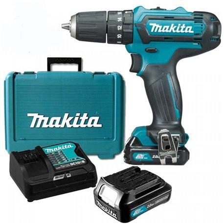 Taladro Percutor 12V 2.0Ah (2 baterías + cagador) Makita HP331DSAE
