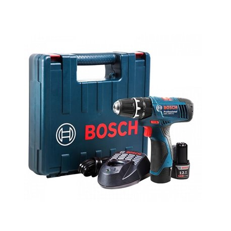 Taladro Percusión/Atornillador (2 baterías+ Cargador) Bosch GSB 1200-2-LI