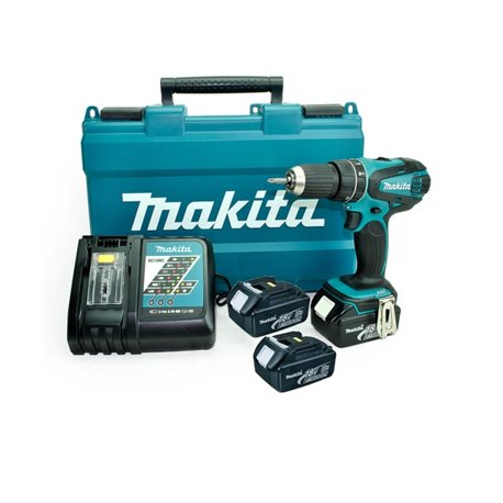 Taladro-Atornillador C/Percusión 13 mm - 2 vel variable (max Torque 50 Nm) 1,6 kg Makita DHP456RFE3