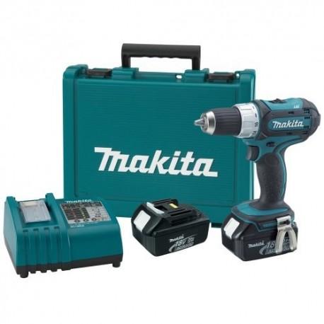 Taladro-Atornillador 13 mm- 2 vel Variables (max Torque 42 Nm) 1,6 kg Makita DDF453SYE