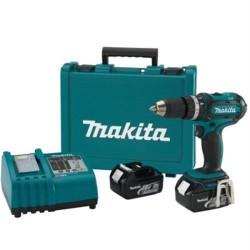 Taladro-Atornillador 13 mm- 2 vel Variables (max Torque 50 Nm) 1,5 kg Makita DDF456RFE