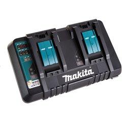 Cargador doble de Baterías 18V Litio-ion (Carga Rápida) DC18RD Makita 196933-6