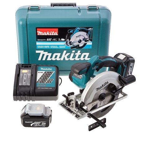 Sierra Circular (2 baterías + cargador) Makita DSS611RFE