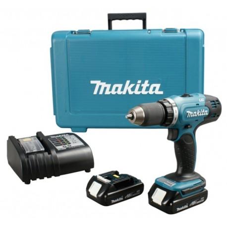 Taladro-Atornillador C/Percusión 13 mm - 2 vel variable (max Torque 42 Nm) 1,7 kg Makita DHP453SYE