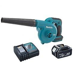 Soplador de aire Velocidad 0 a 18000 rpm DUB182 + Batería 18V 5.0 Ah + Cargador rápido Makita DUB182RTE1