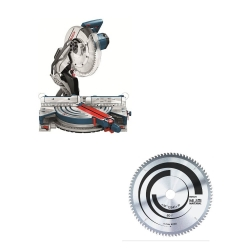 "Kit Cyberday Sierra Ingleteadora 12"" GCM 12 X + Disco de Sierra Circular 12"" Bosch 0601.B21.1N0-000"