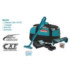 Kit Aspiradora 12V CL107F + Multiherramienta 12V TM30D + 2 Baterías + Cargador + Bolso + Accesorios Makita CLX216AX1
